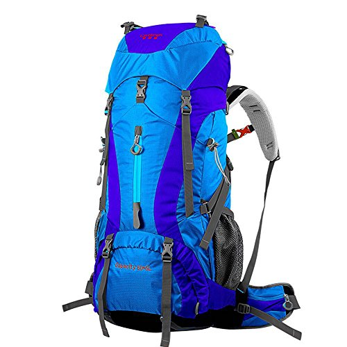 Outdoor Hiking Equipment Large Capacity Men and Women Travel Backpack 60+5L Backpack, Camping Bag, Mountaineering Bag (Blue)