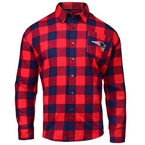 NEW ENGLAND PATRIOTS LARGE CHECK FLANNEL SHIRT - MENS SMALL by FOCO