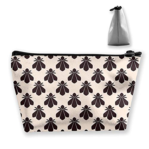 Makeup Bag Trapezoidal Storage Bag Honey Bee Portable Cosmetic Bag Ladies Mobile Travel Bag -
