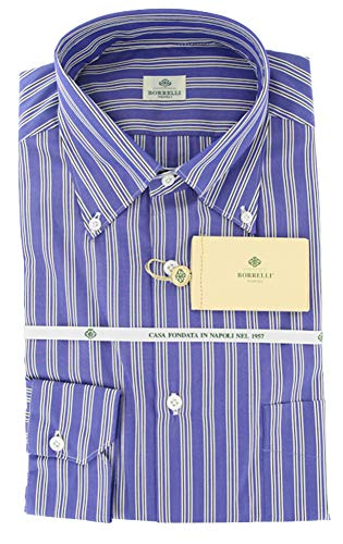 New Borrelli Blue Shirt 15.75/40