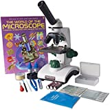 (US) Omano OM117L-XSP1 Student Compound Microscope 40X-400X Gift Package Awarded 2016 Best Kids Microscope By TOP TEN Reviews
