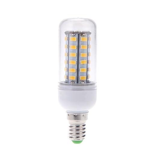 SODIAL E14 10W 5730 SMD 48 LED Bombilla lampara luz de maiz ahorro de energia 360
