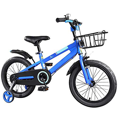 Axdwfd Kids' Bikes, Children's Bicycle 12/14/16/ Inch Boy and Girl Cycling,Suitable for Children Aged 2-11 Blue,red (Color : Blue, Size : 12in)