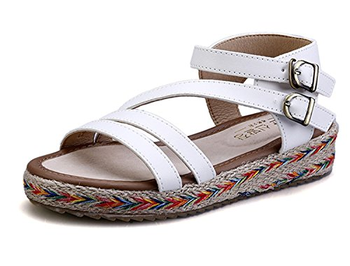 ecollection Damen Espadrilles Weiß