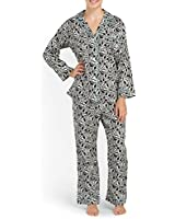 BedHead Pajamas Women's Classic Poplin Notch Collar Pj Set