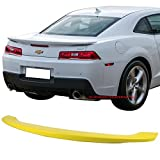 Pre-painted Trunk Spoiler Fits 2014-2015 Chevy Camaro | OE Factory Style Low Blade Style #WA131X Lemon Peel ABS Rear Wing Other Color Available by IKON MOTORSPORTS
