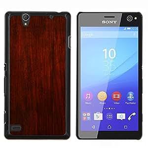 GIFT CHOICE / Teléfono Estuche protector Duro Cáscara Funda Cubierta Caso / Hard Case for Sony Xperia C4 // Rustic Brown Red Design Wall Interior //
