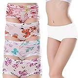 fa7ec937019 MyGxR Breathable Silky Ice Silk Sexy Cute Women Girls Briefs Underwear  Bikini Mid Rised Pack of