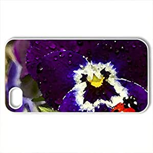 After the rain - Case Cover for iPhone 4 and 4s (Flowers Series, Watercolor style, White) wangjiang maoyi