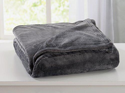 Home Fashion Designs Ultra Velvet Plush Fleece All-Season Super Soft Luxury Bed Blanket. Lightweight and Warm for Ultimate Comfort Brand. (Full/Queen, Steel Grey)