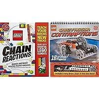 Lego Chain Reactions + Lego Crazy Contraptions, Libros y piezas de Klutz Lego