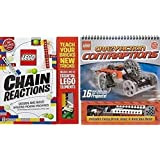Lego Chain Reactions + Lego Crazy Contraptions, Both Klutz Lego Books and Pieces