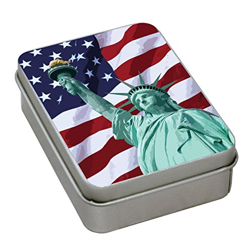 Matches Strike Almost Anywhere in Vintage Style Tin Container Steve Kaeser Since 1989 (Flag) (Best Canoe Trips In Ohio)