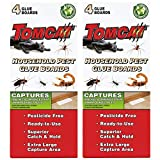 Tomcat Household Pest Glue Boards, (For Roaches, Insects, Scorpions, and Spiders), 2 pack (4 boards)
