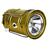 Virat Led Solar Emergency Light Lantern , Usb Mobile Charger, 3 Power Source Solar, Lithium Battery (Multicolor)