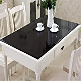 Custom Dining Tables OstepDecor Custom Waterproof PVC Protector for Table/Desk Table Pads Table Covers With Multi Size Available, Black 23.6 x 48 Inches (60 x 122cm)