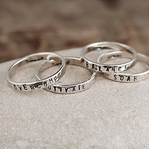 amazon   personalized sterling silver stacking ring