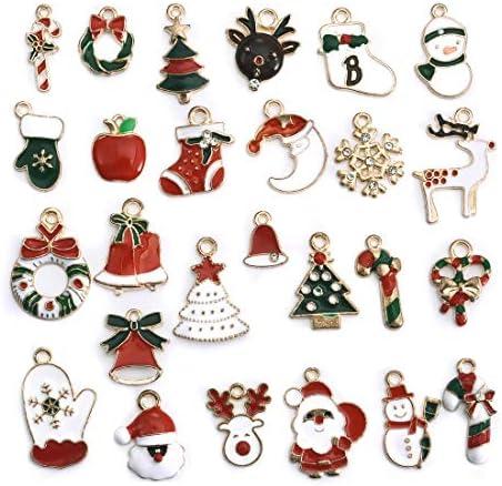 クリスマス 飾り オーナメント チャーム パーツ 手作りアクセサリー 装飾パーツ DIY 贈り物 26個セット