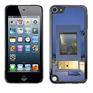 TopCaseStore / la caja del caucho duro de la cubierta de protección de la piel - Architecture White Minimalist - Apple iPod Touch 5
