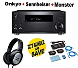 Onkyo Rz Series Audio & Video Component Receiver Black (TX-RZ820) + Monster Home Theater Accessory Bundle + SENNHEISER HD206 Bundle