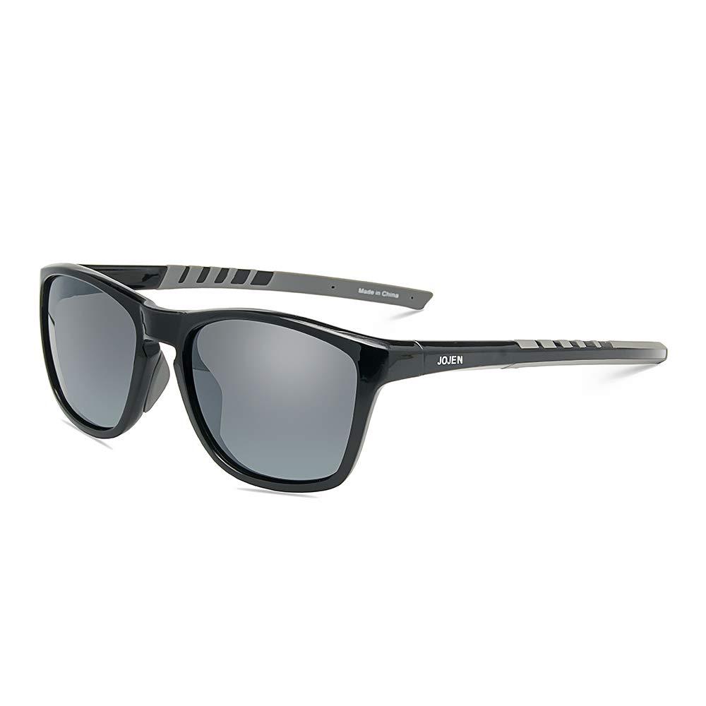 8c40d8f57c0 Amazon.com  JOJEN Polarized Sports Sunglasses for Men Women Baseball  Running Cycling Fishing Golf Tr90 Ultralight Frame JE001(Black Frame Grey  Lens)  Shoes
