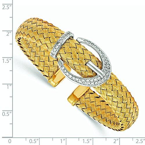 11.8mm Argent 925/1000-CZ Bracelet jonc tressé flexible