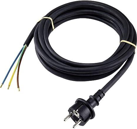 Basetech XR-1638087 Alimentation C/âble de raccordement Noir 4.50 m