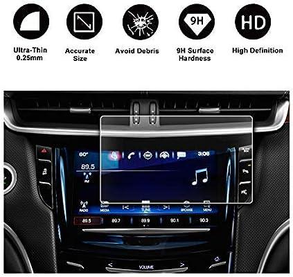 for 2016 2017 2018 Cadillac XT5 Car Screen Tempered Film Navigation Screen Protector HD Clear 9H Hardness Anti-Fingerprint Anti-Scratch