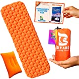 Bivaro Ultralight Sleeping Pad for Backpacking ,Travel and Hiking + Lightweight Pillow + Ebook • Complete Bundle. Waterproof Camping Mattress Best for Sleeping Bag,Hammock and Tent.Useful Everywhere
