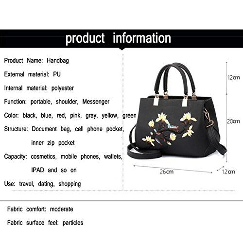 Handbag Lady Leather Handbag Printing WU Bag ZHI Messenger Glossy Shoulder Retro Blue PU Bag t15S6xqHw