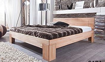 Sam Kernbuche Bett 180x200 Cm Sienna Massiv Holz Geolte Oberflache