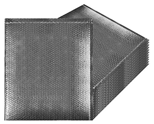 Thermal Insulated Bubble Mailers 24x20 Food Grade Padded envelopes 24 x 20 by Amiff. Pack of 5 Silver Cushion envelopes. Peel and Seal. Metallic foil. Mailing, Shipping, Packing, ()