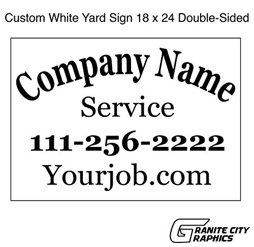 18 x 24 Custom Double-Sided Yard Sign with Metal Stakes ()