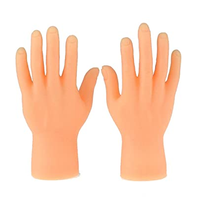 NUOBESTY 2pcs Portable Tiny Hands High Five Mini Hand Puppet Toy Christmas Stocking Stuffer: Home & Kitchen