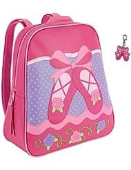 Stephen Joseph Girls Ballet Shoes Backpack with Zipper Pull