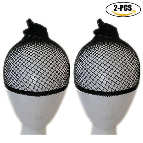 Wig Cap, Kapmore 2Pcs Hairnet Cap Elastic Breathable Mesh Net Long and Short Hair Wig Cap