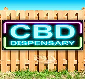 Heavy-Duty Vinyl Single-Sided with Metal Grommets Cbd Drinks 13 oz Banner Non-Fabric
