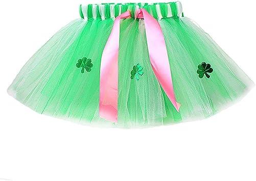 LUOEM Disfraz de tutú Verde Día de San Patricio Falda de trébol en ...