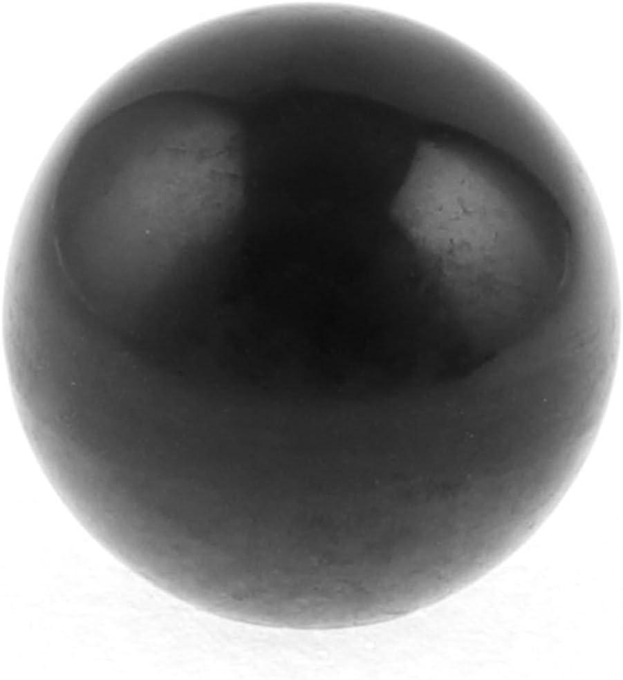 M12 Bore 40mm Black Plastic Ball Lever Knob Handle for Lathe Machinery