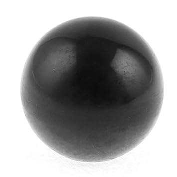2/M12/x 40/mm Gewinde rund Kunststoff 40/mm Dia Kugel Hebel Knauf schwarz rot