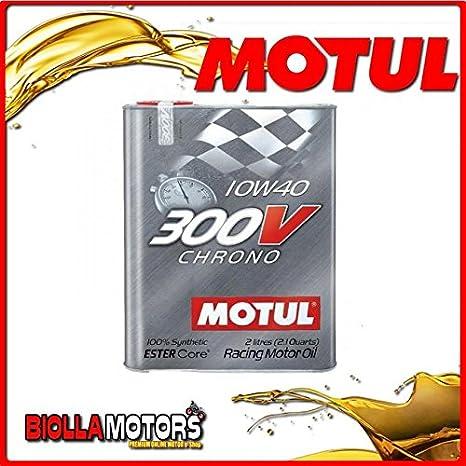 104243 Bote 2 litro aceite Motul 300 V Chrono 10 W40 100% sintético ...