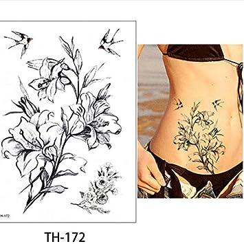 Tatuajes Temporales Diy Pequeña Flor Animal Tatuaje Temporal ...