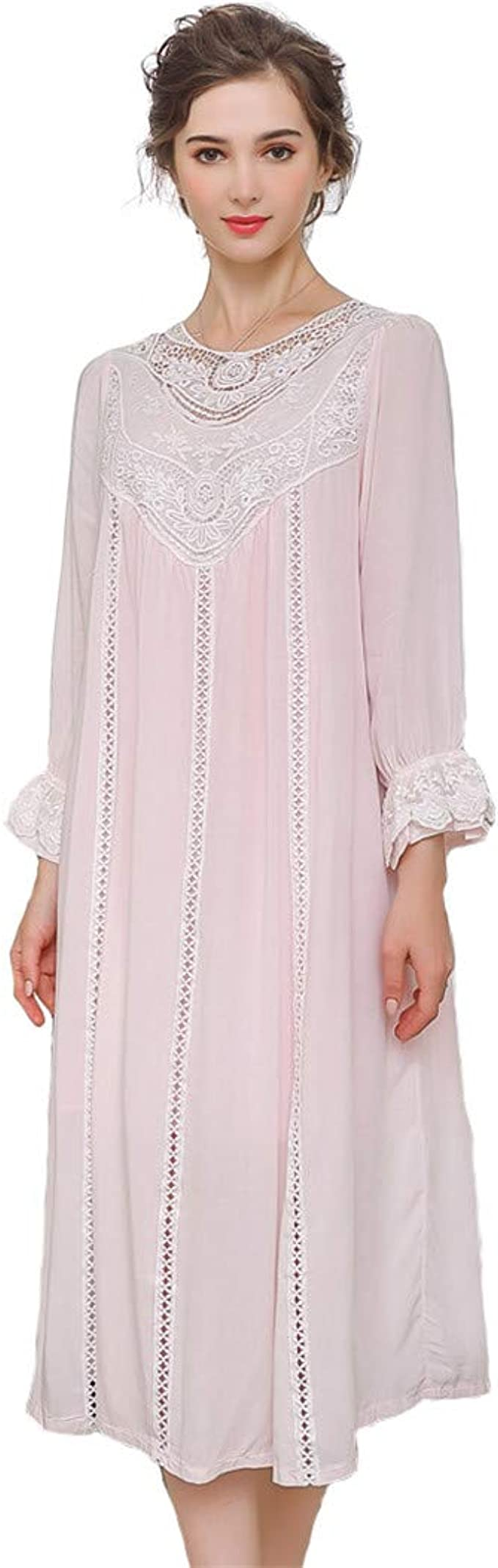 Vintage Nightgowns, Pajamas, Baby Dolls, Robes Womens Vintage Victorian Sleepwear Sleeveless/Short/Long Sleeve Sheer Nightgown Pajamas Nightwear Lounge Dress $41.99 AT vintagedancer.com