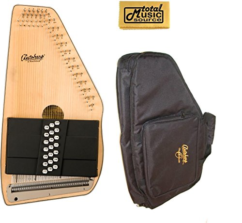 Oscar Schmidt 21 Chord Autoharp w/ Gig Bag, Spruce Top, Maple Body, OS10021-AC445 by Oscar Schmidt