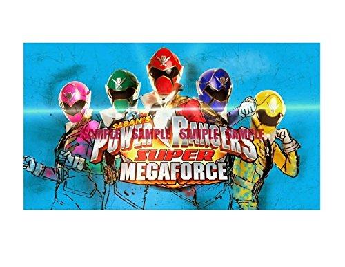 (Power Rangers Super Mega Force Image Photo Cake Topper Sheet Birthday Party - 1/4 Sheet - 79797)