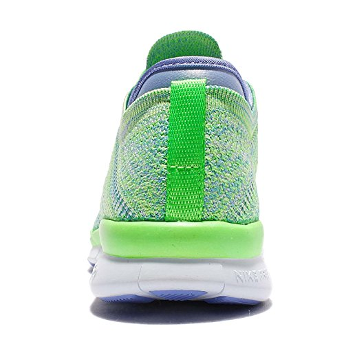 Nike Women's Wmns Free TR Flyknit, VOLTAGE GREEN/WHITE-CHALK BLUE-DEEP ROYAL, 8 US