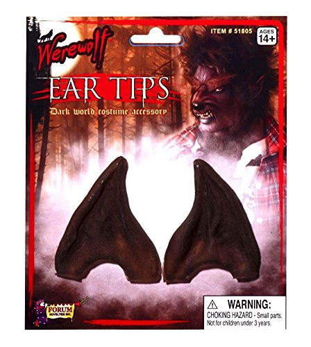 [Adult Brown Latex Werewolf Worgen Alien Pointed Ear Tips LARP Cosplay Warcraft] (Lord Of The Rings Child Arwen Costume)