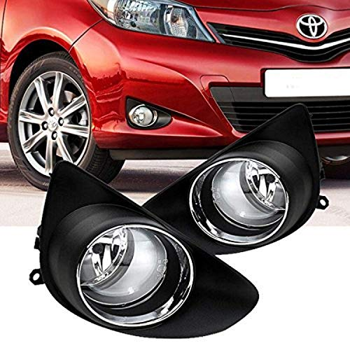 Remarkable Power Fit For 2012-2014 Toyota Yaris Hatchback Fog Lights Kit Bumper Lamps w/Switch Wiring harness bulb Housing FL7023