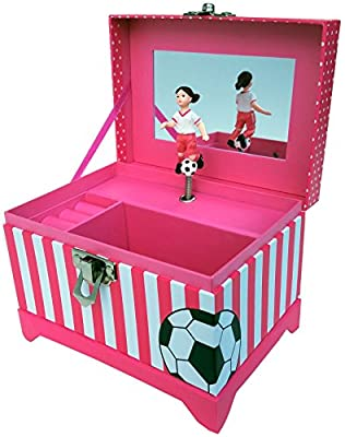 Soccer Player Musical Jewelry Box
