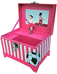 Just Like Me Soccer Player Musical Jewelry Box (Black...